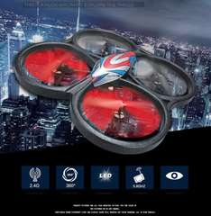 WLtoys V666 5.8G FPV 6 Axis 2.4 G RC Quadcopter with HD Camera Monitor RTF 89,08€ + Steuer