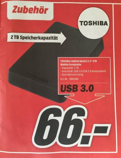 "[lokal] 2 TB 2,5"" USB 3.0 externe Festplatte Toshiba Canvio @ MM Düsseldorf"