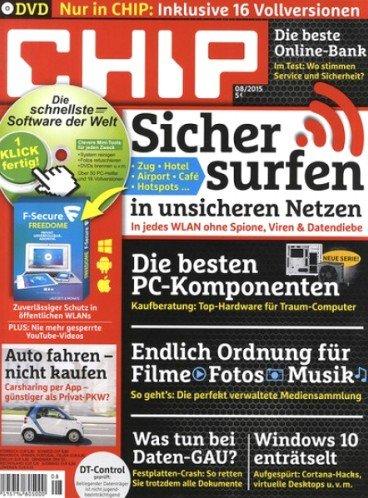 CHIP Premium (mit 3 DVDs) für 39,96€ + 35€ Amazon Gutschein oder 30€ Verrechnungsscheck