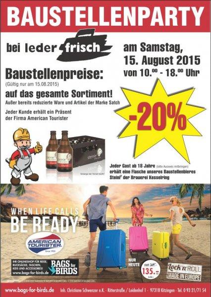 [Lokal Kitzingen] Freibier + Überraschung am 15.08. bei Leder Frisch