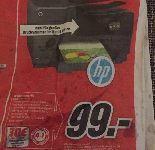 [Lokal? Rheinland / Bonn, Köln] Officejet Pro 8615 -> + 30€ Cashback über HP + 3 Jahre Garantie