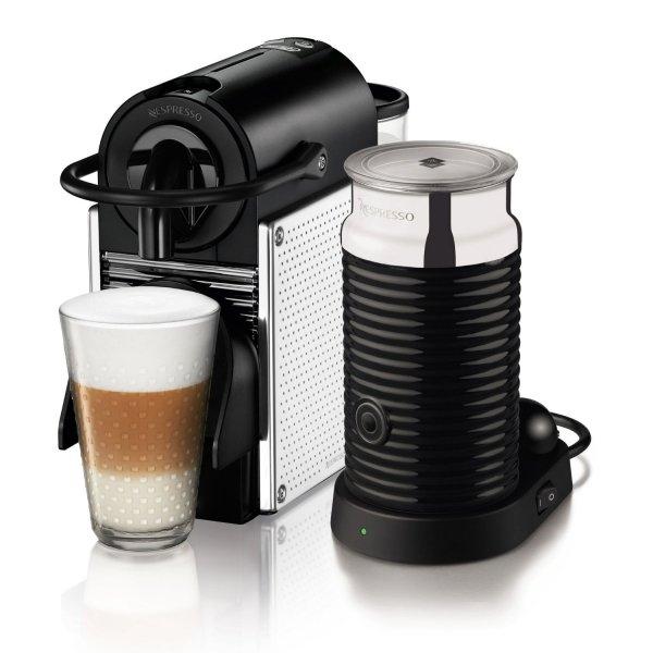 @saturn.de: DELONGHI EN 125.MAE Nespresso Pixie steel Nespresso Kapselmaschine, Schwarz/Silber inkl. separatem Aeroccino ab 94€