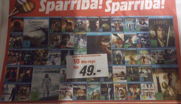 10 Blu-rays für 49€ aus 100 verschiedenen bei MediaMarkt Recklinghausen und Dorsten