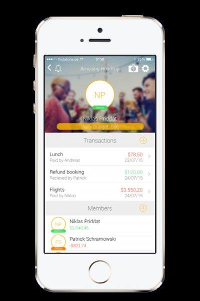 [iOS] TravelMate - Urlaubskosten einfach aufteilen 1,99€ statt 5€ - Einführungsangebot