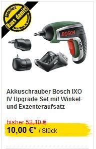 [Bundesweit] Akkuschrauber Bosch IXO IV Upgrade Set für € 10,00 im Hornbach / € 8,80 bei Bauhaus mit TPG