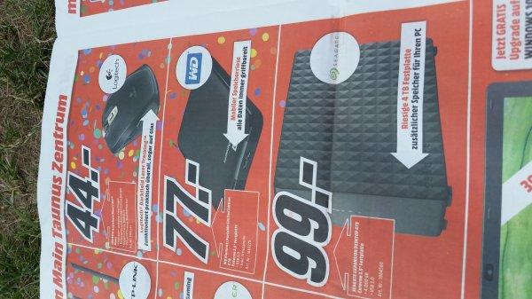 "[lokal Media Markt MTZ] Seagate Expansion Desktop 4TB externe 3,5"" USB 3.0 uvm. zB WD 2TB portable"