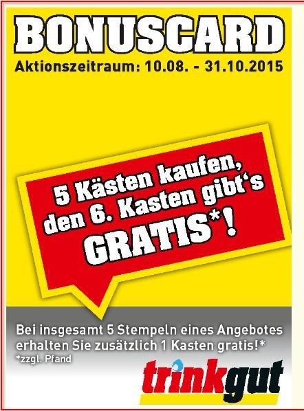 Sechs Kästen KöPi für 53,95 Trinkgut Rheinberg Dank Bonuscard (Bundesweit?)