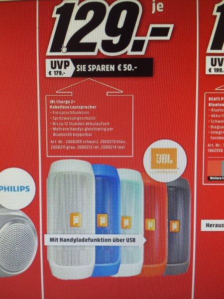 [LOKAL Dessau Mediamarkt] JBL Charge 2+ plus 129€ Bestpreis!!