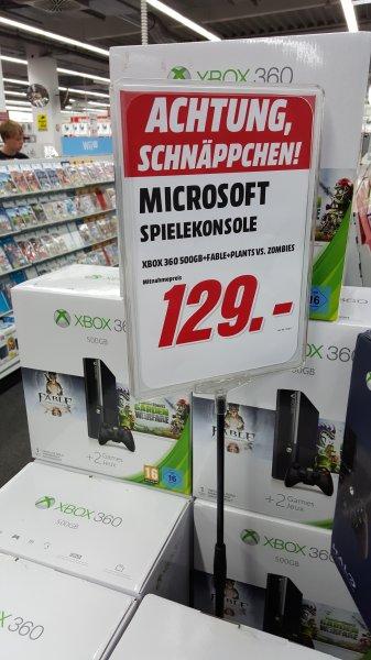 [LOKAL] Mediamarkt Erlangen: Xbox 360 - 500GB + Spiele Fable: Anniversary + Plants vs. Zombies: Garden Warfare für 129,-