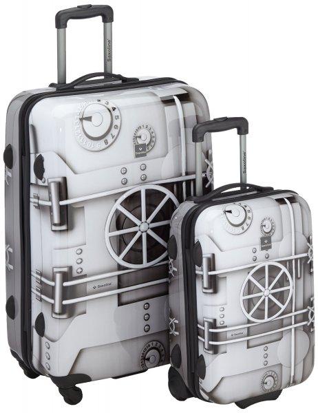 Saxoline Koffer-Set (1 x 67cm, 1 x 55cm), grau für 58,24 € @Amazon.fr