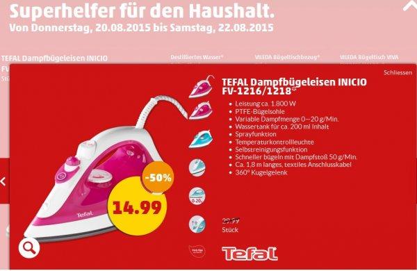 TEFAL Dampfbügeleisen INICIO FV-1216/1218 @penny 14,99€