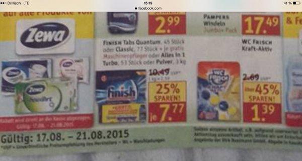 [Rossmann] KW34 (45% billiger)  WC Frisch  2x kaufen und Nochmals sparen