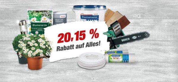 [Lokal Bad Dürkheim] Toom Baumarkt 20,15% auf fast alles | Weber Master Touch GBS am 15.08.15 für 199,99€ (Idealo: 215€) --> Bauhaus zieht mit