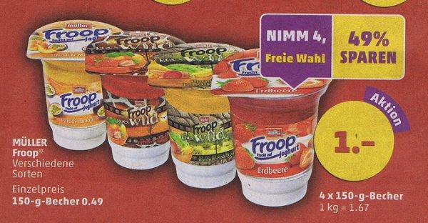 4 Froop Joghurt Becher für 1 Euro (Becherpreis 0,25 Euro)  @penny 21.08 + 22.08