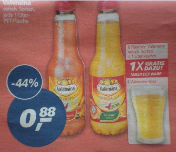 [REAL] Valensina Saft 100% für 0,88Euro + Gratis Valensina - Glas.