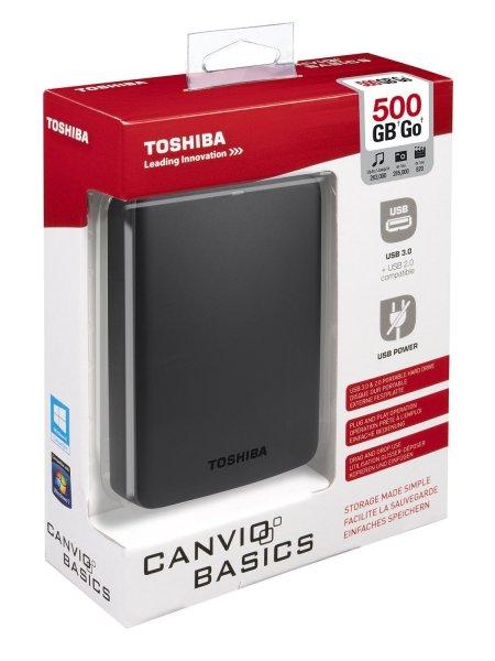 Toshiba Canvio Basics 500 GB USB 3.0 für 34,23 € bei voelkner.de