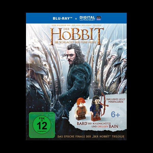 """Der Hobbit: Die Schlacht der fünf Heere inkl. 2 LEGO Minifiguren """"Bain"""" & """"Bard"""" (Blu-ray Disc) @ müller"""
