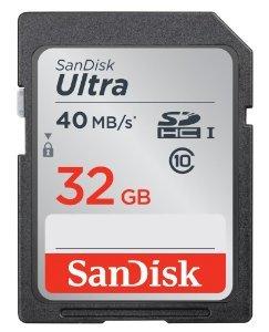 Sandisk SDHC Ultra 32GB Class 10 UHS-I für 9€ @Media Markt