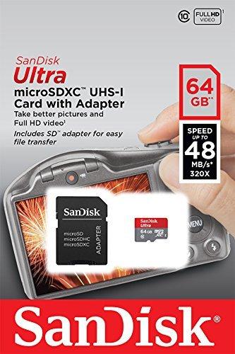 SanDisk Ultra Imaging 64GB microSDXC UHS-I Class 10 Speicherkarte bis zu 48MB/s  @ Amazon
