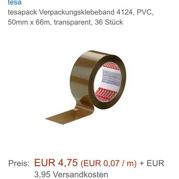 [Amazon] Preisfehler?Tesa Verpackungsklebeband 36stück 8,70€