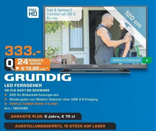 Grundig 48VLE5421BG für 333 Euro Lokal Saturn Krefeld LED Fernseher