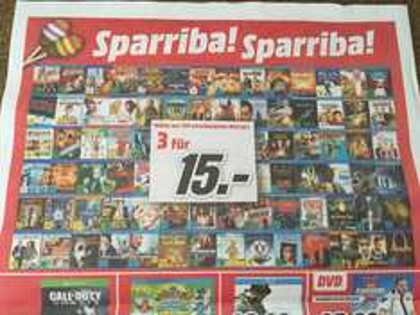 [Media Markt Mönchengladbach + Umgebung] Blu-ray 3 für 15€