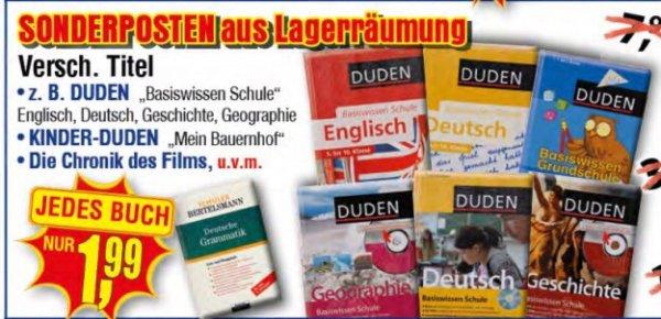 [Centershop] Diverse Schüler- und Kinder DUDEN / Schüler Bertelsmann / Kinder Brockhaus für je 1,99€