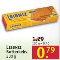 [Rossmann] LEIBNIZ Butterkeks für 0.79€