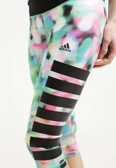 Adidas Performance Tights - multicolor/flash red Sporthose Leggings Hose Damen, 29,95 EUR @ zalando