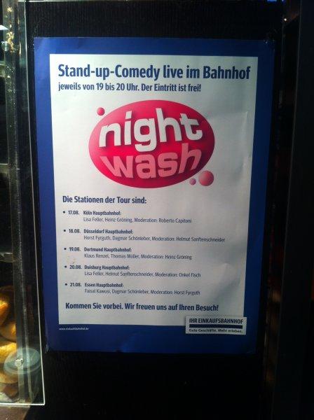 [Lokal K/D/DO/DU/E] Nightwash Stand-up-Comedy live im Bahnhof