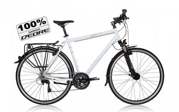 Trekkingrad Black Pepper Weiß mit 100% Deore Komponenten 50€ Rabatt
