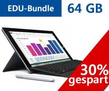 Microsoft Surface 3 EDU-Bundle 64GB inkl. Stift und Type Cover, 4GB Version! [nur für Studierende, Lehrende etc.]
