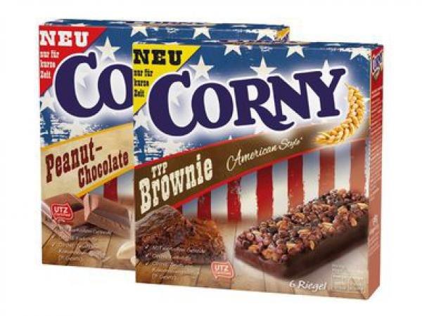 [PENNY] Corny American Style (Peanut-Chocolate/Crunch/Brownie) 138-140g für 1,11€