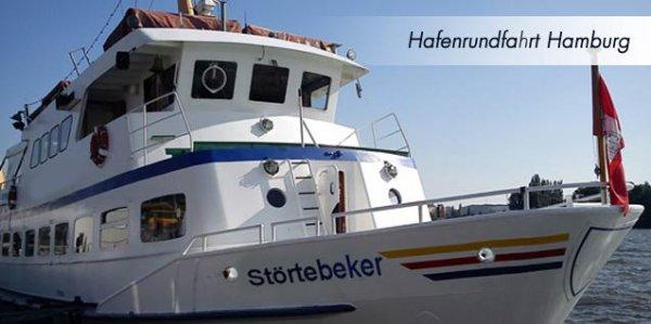 Hafenrundfahrt Hamburg Störtebecker Schifffahrt 2 Personen, 16,90 EUR @ dailydeal