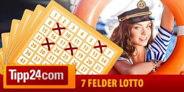 Für NEUKUNDEN - Tipp24.com - 7 Lottofelder für 1 €uro statt 7,50 €uro