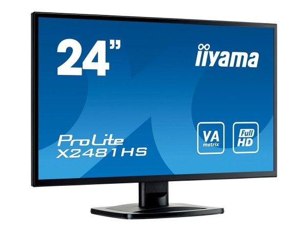 """Iiyama LED-Monitor """"X2481HS-B1"""" für 140 € statt 162 €, inkl. Versand bei @ZackZack"""