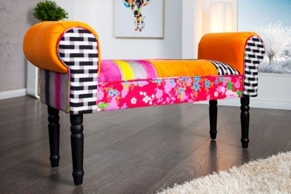 Patchwork Design Bank Sitzbank GYPSY mehrfarbig Barock, 79,90 EUR @ riess-ambiente
