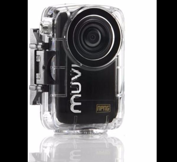 VEHO MUVI Atom Micro Camcorder (1,8 Zoll) LCD Display, 8 Megapixel, 3-fach optischer Zoom, 1080p) inkl. 8 GB Speicher und Waterproof Case für 108,95€