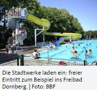 「Bielefeld」 Freier Eintritt in allen Freibädern in Bielefeld am 22. August 2015