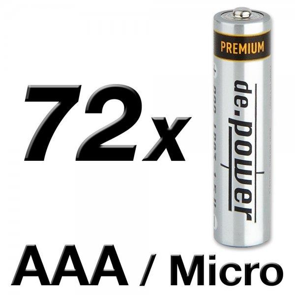 Amazon Prime : 72 Stück LR03 AAA  Alkali Marken Batterien - Nur 11,99 €