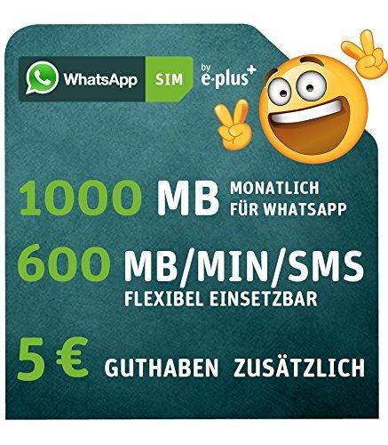 [Amazon Family] WhatsApp SIM für 5 €