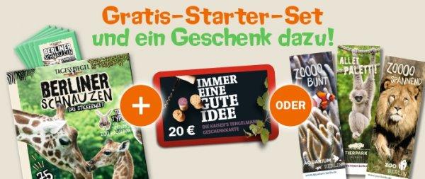 20 € Kaisers Gutschein + Sammelheft mit Tieren