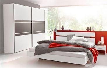 OTTO & Co.: Schlafzimmer-Set: Schwebetürenschrank 218 cm, Bett 180/200 cm und 2 Nachttische