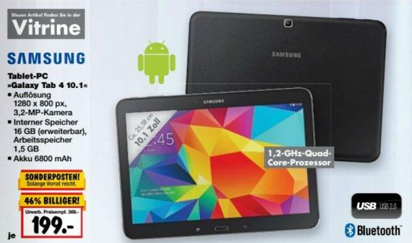 [KAUFLAND BY/BW] KW35: Samsung Galaxy Tab 4 10.1 für 199€ (24.-29.08.15)