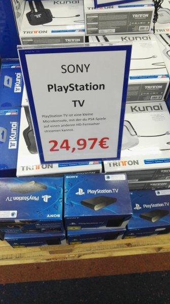 Saturn Leipzig HBF PlayStation TV Call of Duty Advanced Warfare (ONE) für 16,97 Euro, 2DS für 69,97 Euro, Singstar Ultimate Party (PS4) für 9,97 Euro.