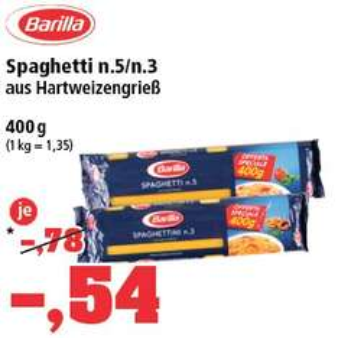 [Thomas Philipps] Barilla Spaghetti n.5/n.3 400g Packung