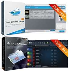 Wonderfox: Video Converter Factory Pro und Document Manager - Back to School Giveaway