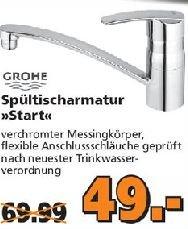 """[Globus Baumarkt]  GROHE Spültischarmatur """"Start""""  für 49,00 Euro."""