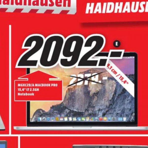 [Mediamarkt München Haidhausen] Mac Book Pro MGXC2D