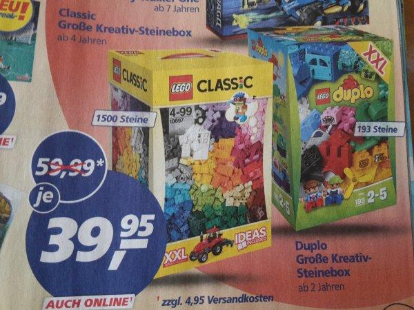 @real Markt+Online/ Lego Classic Große Kreativ-Steinebox ODER Duplo Große Kreativ-Steinebox 39,99€